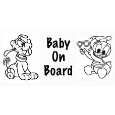 Baby On Board Diecut Decal 2