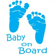 Baby On Board Foot Print Decal