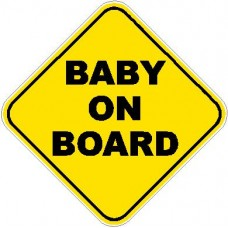 Baby On Board Warning Car Window Decal