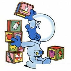 Baby Smurf Color Sticker 2