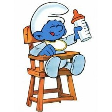 Baby Smurf Color Sticker 3
