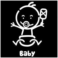 baby Stick Figure Decal