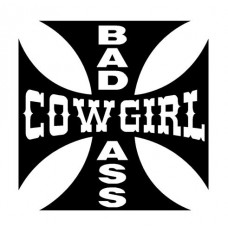Bad Ass Cowgirl Decal