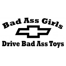 Bad Ass Girls Chevy Decal