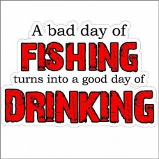 BAD DAY FISHING STICKER