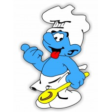 Baker Smurf Color Sticker