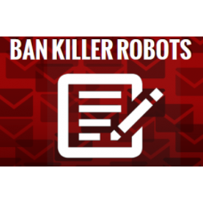 ban killer robots sticker