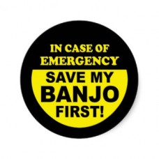 banjo emergency sticker