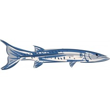 barracuda color fish sticker