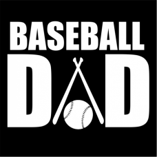 Baseball Dad Window Wall Decal