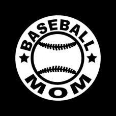 Baseball Mom Circular Diecut Vinyl Decal