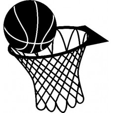basketball and Net Decal