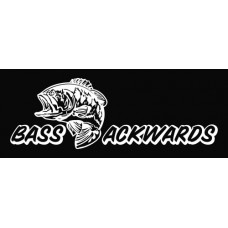 Bass Ackwards Die Cut Vinyl Decal Sticker