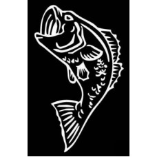 Bass Fishing Vinyl Fishing Decal