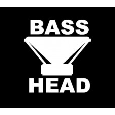 BASS HEAD DIECUT DECAL