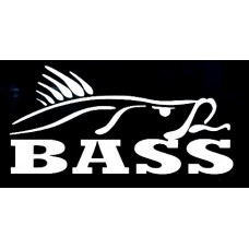 BASS VINYL FISHING DECAL