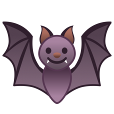 bat purple emoji