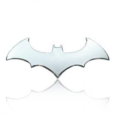 Bat Shape Chrome Emblem