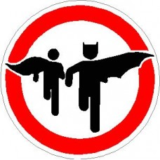 Bat and Robin Circular Decal Sticker