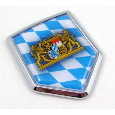 Bavaria Shield 3D Adhesive Automobile Chrome Emblem