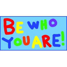 be who you are color sticker