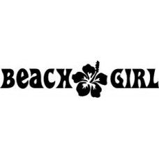 Beach Girl Decal Sticker