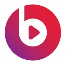 beats music logomark color sticker