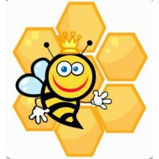 bee cute queen bee and beehive sticker