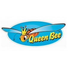 bee queen bee oval sticker