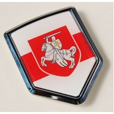 Belarus Belarussia Flag Crest Car Chrome Emblem Decal Sticker