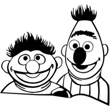 Bert & Earnie Sticker