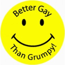 Better Gay than Grumpy Smile Face Sticker