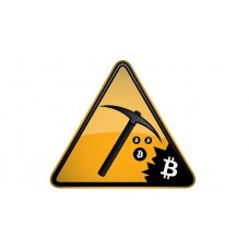 bitcoin-miner TRIANGLE STICKER