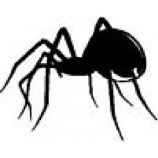 Black Widow Spider Sticker 2