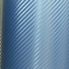 Carbon Fiber Adhesive Vinyl Sheet Decal BLUE