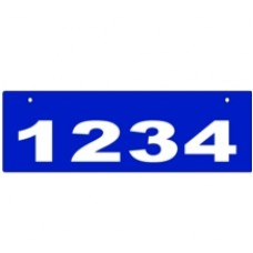 D - 6x18 Top Mount Reflectice Address Sign