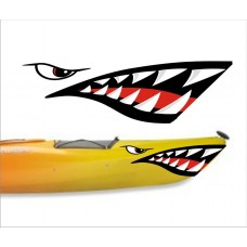 boating mouth and eye sticker 2 LEFT