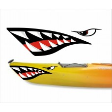 boating mouth and eye sticker 2 RIGHT