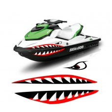 boating mouth and eyes sticker RIGHT