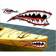 boating sticker mouth and eye LEFT