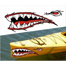 boating sticker mouth and eye RIGHT