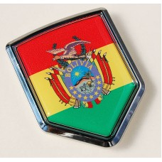 Bolivia Flag Crest Bolivian Car Chrome Emblem Decal Sticker