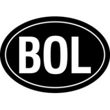 Bolivia Oval Decal