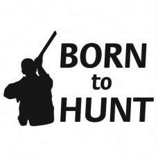born to hunt duck hunting decal 2