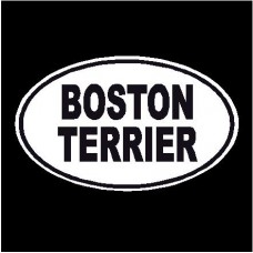 Boston Terrier Oval Dog Decal