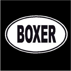 Boxer Oval Dog Decal