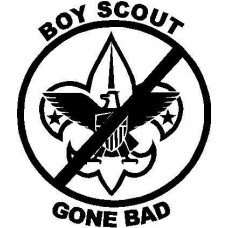 Boy Scout Gone Bad Die Cut Decal