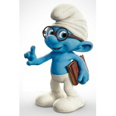 Brainy Smurf Movie Sticker