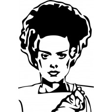 bride of frankenstien die cut decal