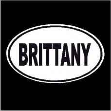 Brittany Oval Dog Decal